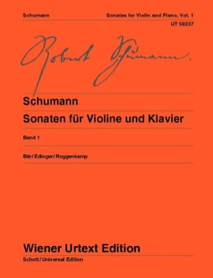 SCHUMANN - Sonatas for violin and piano - Volume 1 - Sheet Music - di-arezzo.co.uk