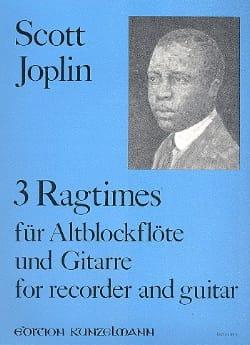 Scott Joplin - 3 Ragtimes - Flûte A Bec et Guitare - Partition - di-arezzo.fr