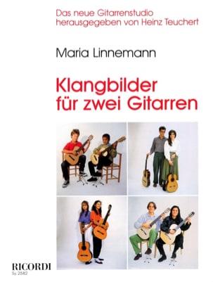 Klangbilder für 2 Gitarren Maria Linnemann Partition laflutedepan