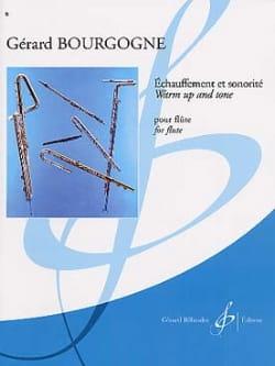 Echauffement et sonorité Gérard Bourgogne Partition laflutedepan