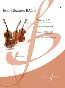 BACH - Suites 1 to 3 - Double bass - Sheet Music - di-arezzo.co.uk