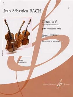 BACH - Suites 4 and 5 Transcribed for Double Bass Vol 2 - Sheet Music - di-arezzo.com
