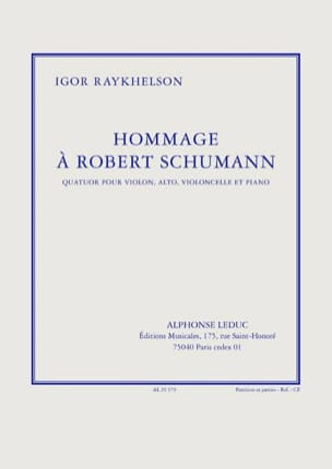 Raykhelson Igor - Tribute to Robert Schumann - Parties - Sheet Music - di-arezzo.com