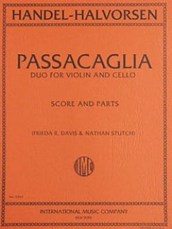 Haendel Georg Friedrich / Halvorsen Johann - Passacaglia – Violin cello - Partition - di-arezzo.fr