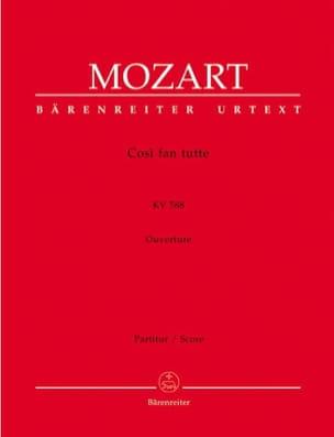 MOZART - Cosi fan tutte - Ouverture - Partitur - Partition - di-arezzo.fr