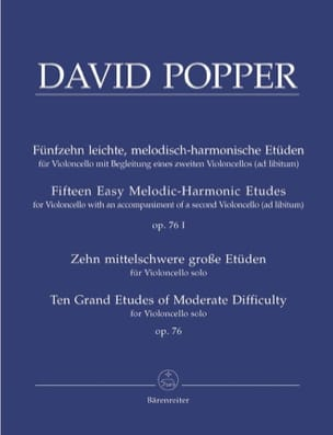 David Popper - 15 Leichte Etüden op. 76/1 - 10 Grosse Etüden op. 76/2 - Sheet Music - di-arezzo.co.uk