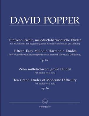 David Popper - 15 Leichte Etüden op. 76/1 - 10 Grosse Etüden op. 76/2 - Partition - di-arezzo.fr