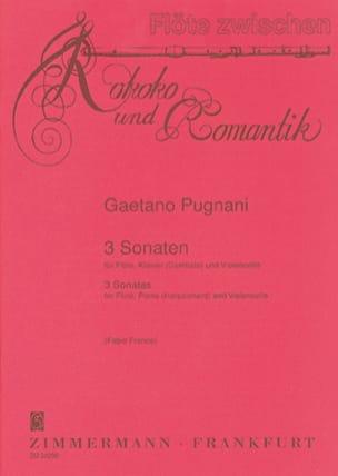 3 Sonaten -Flöte Cello Klavier Gaetano Pugnani Partition laflutedepan