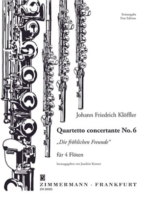 Johann Friedrich Klöffler - Quartetto Concertante No. 6 - 4 Flöten - Sheet Music - di-arezzo.co.uk