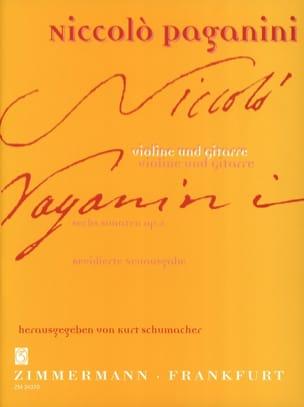 6 Sonaten op. 2 - Violine Gitarre PAGANINI Partition 0 - laflutedepan
