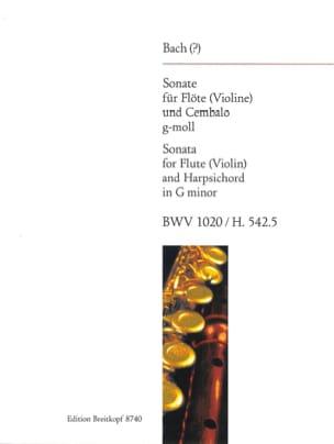 BACH - Sonate G-Moll BWV 1020 - Flûte et Cembalo - Partition - di-arezzo.fr