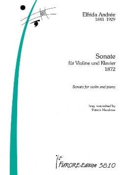 Sonate für Klavier und Violine - Elfrida Andrée - laflutedepan.com