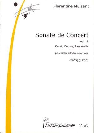 Florentine Mulsant - Concert Sonata Op. 19 - Partitura - di-arezzo.es
