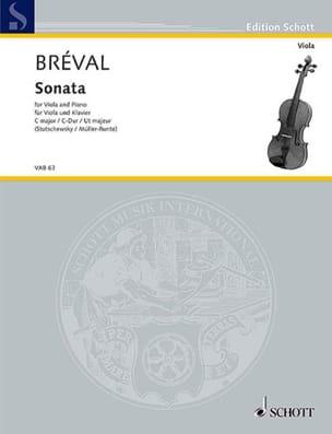 Jean-Baptiste Bréval - Sonate en ut majeur - Alto - Partition - di-arezzo.fr