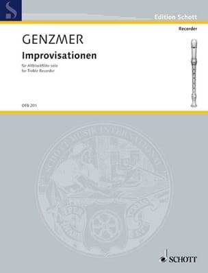 Harald Genzmer - Improvisationen - Partition - di-arezzo.fr