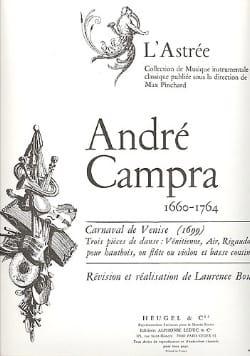 André Campra - Carnaval de Venise - Partition - di-arezzo.fr