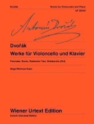 Antonin Dvorak - Werke für Violoncello und Klavier - Partition - di-arezzo.fr