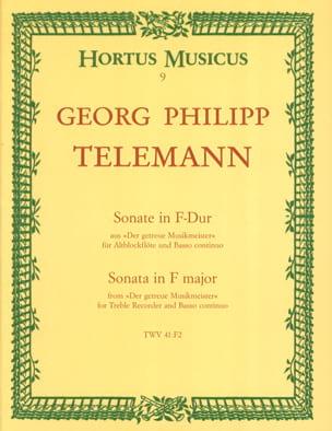 TELEMANN - Sonata in F-Dur - Altblockflöte u. Bc - Sheet Music - di-arezzo.co.uk