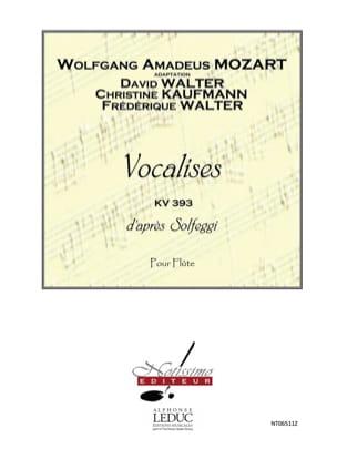 Mozart Wolfgang Amadeus / Walter - Vocalises d'après Solfeggi KV 393 - Partition - di-arezzo.fr