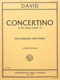 Concertino op. 12 - Bassoon piano Ferdinand David laflutedepan