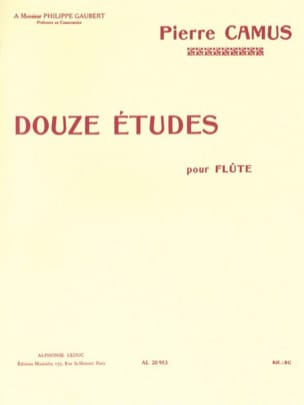 Pierre Camus - 12 Etudes - Flute - Sheet Music - di-arezzo.co.uk