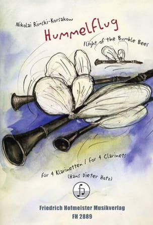 Nicolaï Rimsky-Korsakov - Hummelflug – 4 Klarinetten - Partition - di-arezzo.fr