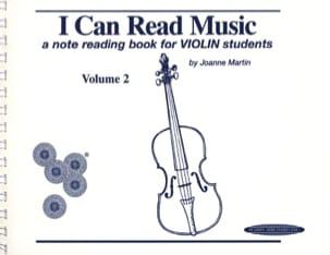 Joanne Martin - I can read Music Volume 2 - Partition - di-arezzo.fr