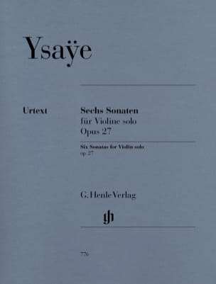 Eugène Ysaÿe - Six Sonatas op. 27 - Sheet Music - di-arezzo.co.uk