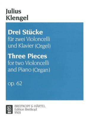 Julius Klengel - Drei Stucke op. 62 – 2 Violoncellos Klavier (Orgel) - Partition - di-arezzo.fr