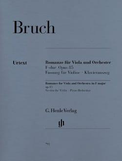 Max Bruch - Romanze F-dur op. 85 - Fassung Violine - Partition - di-arezzo.fr