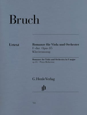 Max Bruch - Romanze for Viola, F-hard op. 85 - Sheet Music - di-arezzo.com