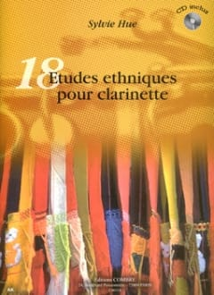 Sylvie Hue - 18 Ethnic studies for clarinet - Sheet Music - di-arezzo.com