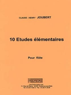 Claude-Henry Joubert - 10 Elementary Studies Flute Solo - Sheet Music - di-arezzo.co.uk