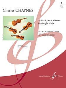 Etudes pour violon, Volume 1 - Charles Chaynes - laflutedepan.com