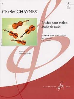 Charles Chaynes - Etudes pour violon, Volume 2 - Partition - di-arezzo.fr