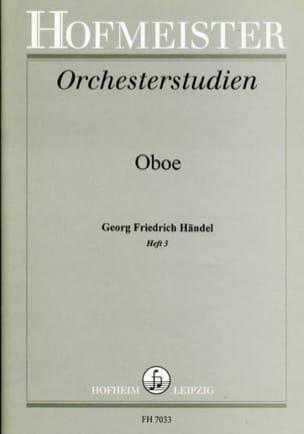 Orchesterstudien - Heft 3 - Oboe - HAENDEL - laflutedepan.com