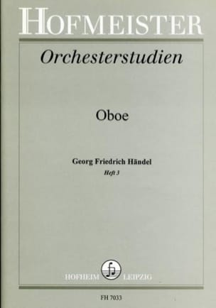 HAENDEL - Orchesterstudien - Heft 3 - Oboe - Sheet Music - di-arezzo.co.uk