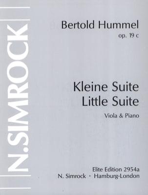 Petite suite op. 19c HUMMEL Partition Alto - laflutedepan