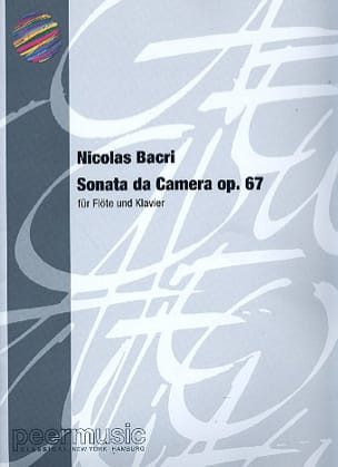 Nicolas Bacri - Sonata da Camera op. 67 –Flöte Klavier - Partition - di-arezzo.fr
