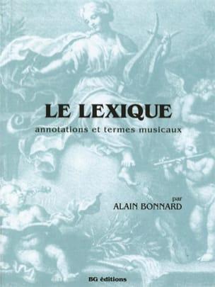 Alain Bonnard - Le Lexique - Partition - di-arezzo.fr