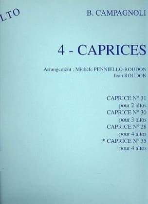 Bartolomeo Campagnoli - Capricho n ° 35 - 4 violas - Partitura - di-arezzo.es