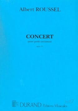 Albert Roussel - Concert for small orchestra op. 34 - Driver - Sheet Music - di-arezzo.co.uk