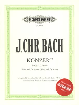 Johann Christian Bach - Alto Concerto in C minor with CD - Sheet Music - di-arezzo.co.uk
