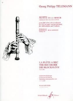 Georg Philipp Telemann - Suite En la Mineur - Flûte A Bec Alto et Clavecin - Partition - di-arezzo.fr