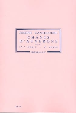 Joseph Canteloube - Chants D'auvergne Volume 2 - Partition - di-arezzo.fr