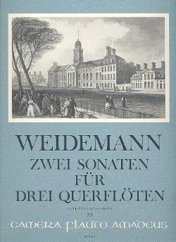 Carl Friedrich Weidemann - 2 Sonaten op. 3 Nr. 3 und 6 – 3 Flöten (Stimmen u. Partitur) - Partition - di-arezzo.fr