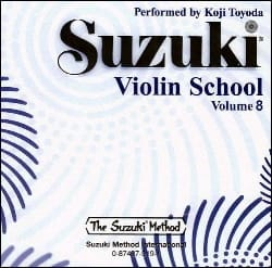 Violin School Vol.8 - CD Seul SUZUKI Partition Violon - laflutedepan