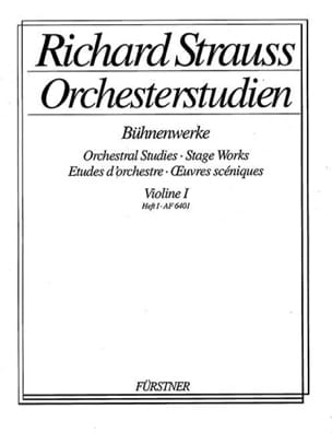 Richard Strauss - Orchesterstudien, Violon 1 Heft 1 - Partition - di-arezzo.fr