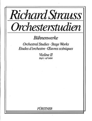 Richard Strauss - Orchesterstudien Violine 2, Heft 1 - Sheet Music - di-arezzo.co.uk