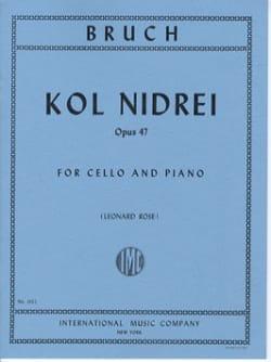 Kol Nidrei - BRUCH - Partition - Violoncelle - laflutedepan.com